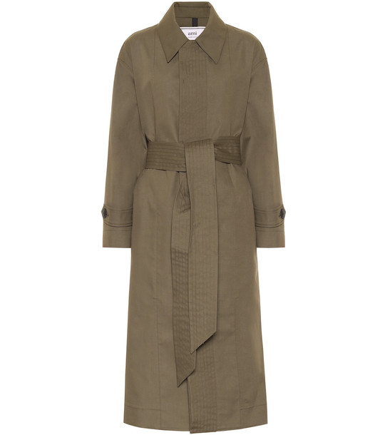 AMI Cotton-blend coat in green
