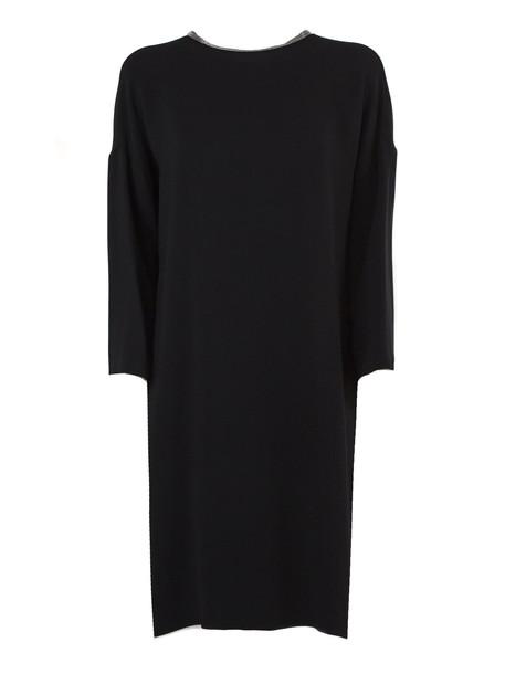 Fabiana Filippi Black Viscose Dress