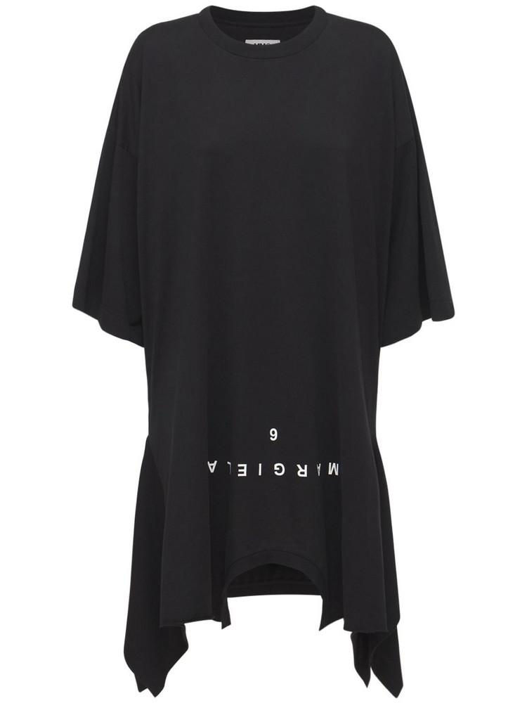 MM6 MAISON MARGIELA Double T-shirt Jersey Mini Dress in black