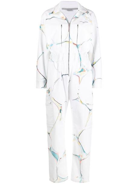 Stella McCartney The Denim Jumpsuit in white
