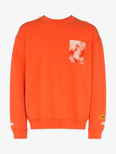Heron Preston heron print cotton sweatshirt