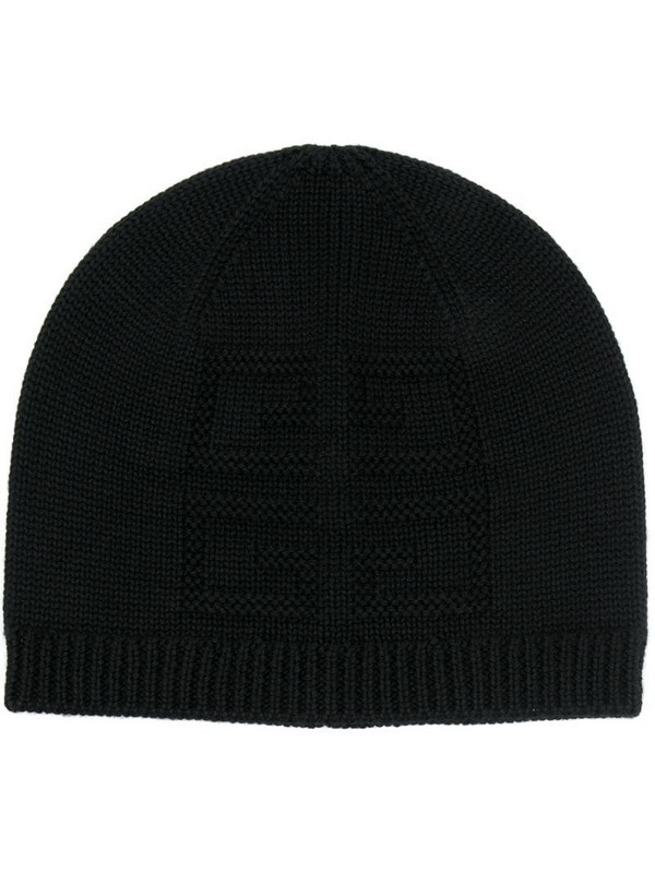 Givenchy rib-trimmed beanie in black