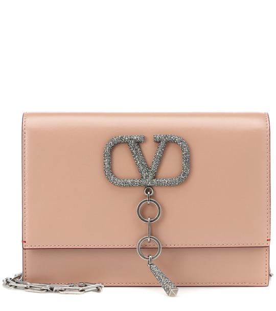 Valentino Garavani VCASE Small leather shoulder bag in pink