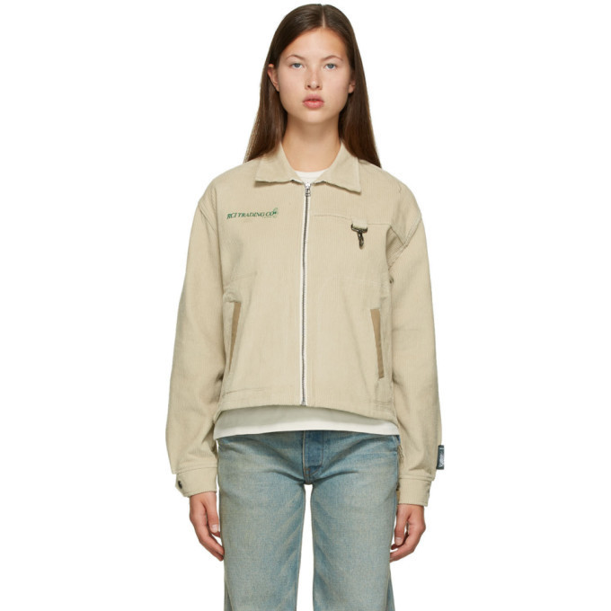 Reese Cooper Off-White Corduroy Hunting Division Jacket in khaki