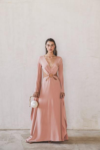 Cult Gaia Jasmin Cutout Gown - Pink                                                                                               $998.00