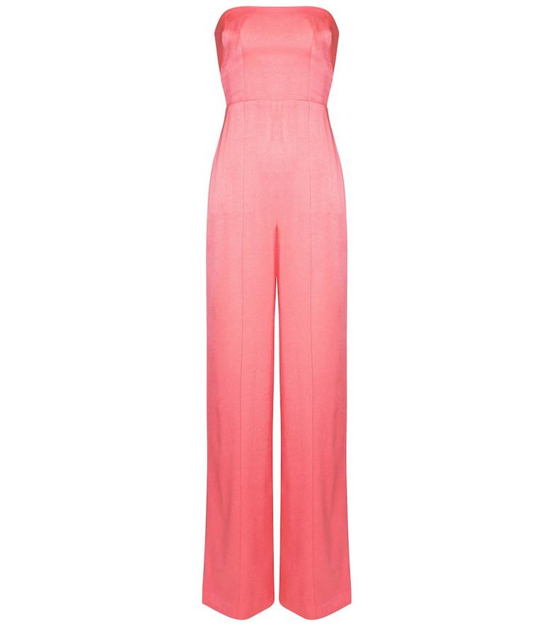 Alex Perry Exclusive to Mytheresa – Mackenzie crêpe satin jumpsuit in pink