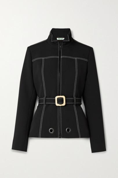 KENZO - Belted Scuba Jacket - Black