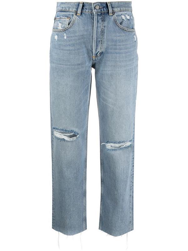 BOYISH DENIM Tommy distressed straight leg jeans in blue