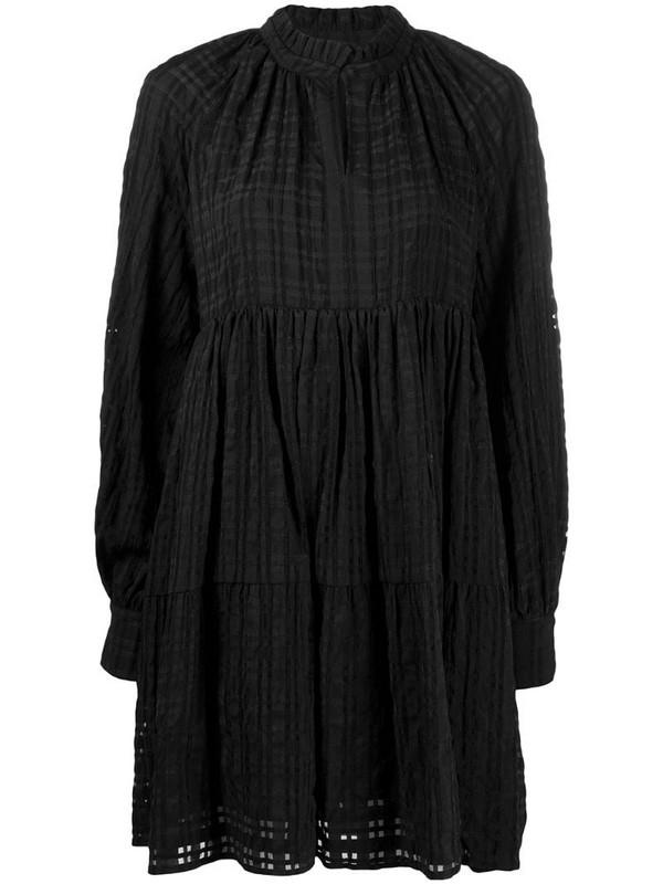 Stine Goya Jasmine tiered mini dress in black