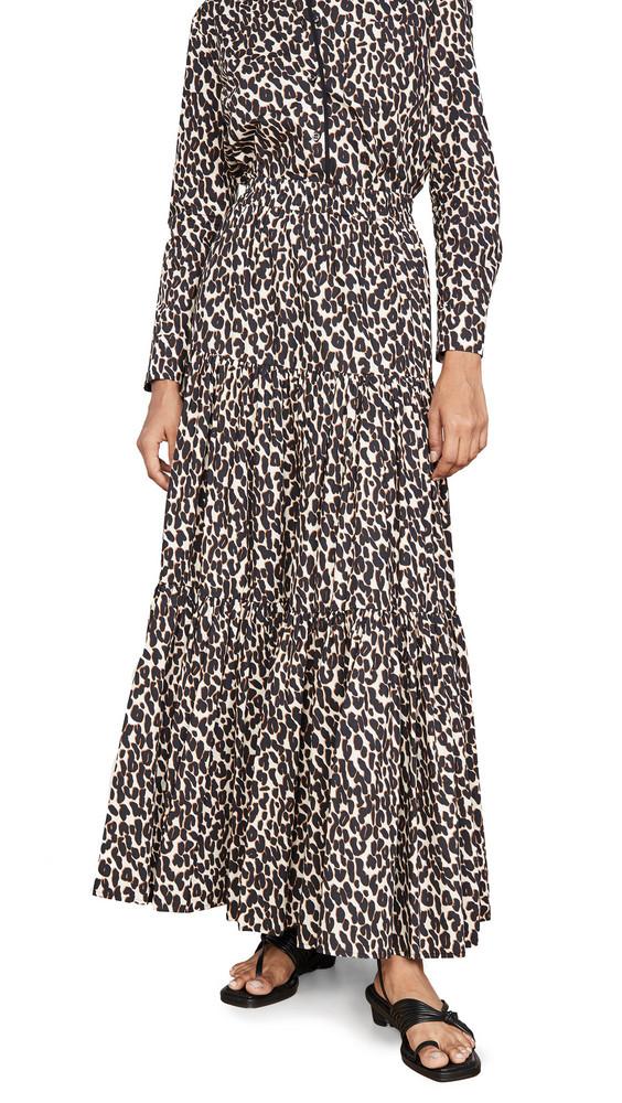 La Double J Big Skirt in leopard
