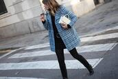 my daily style,blogger,coat,bag,shoes,blue coat,spring outfits