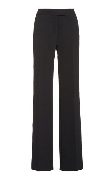 Marina Moscone Straight-Leg Cady Pants in black