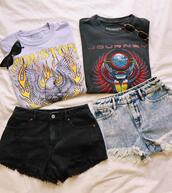 shorts,top