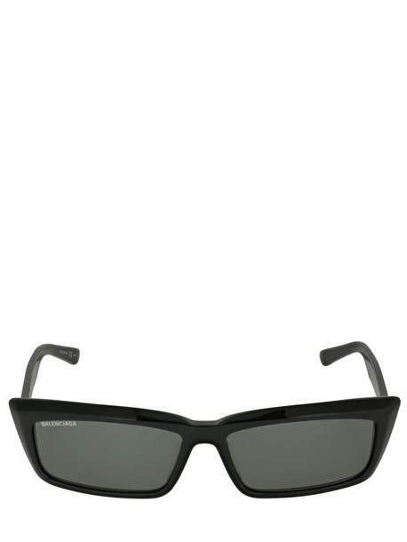 BALENCIAGA Tip 0047s Rectangle Acetate Sunglasses in black