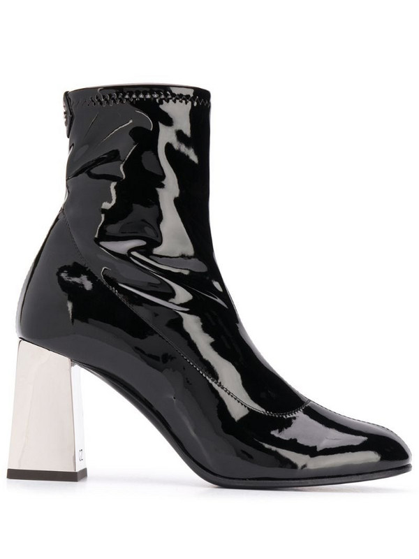 Giuseppe Zanotti patent leather stretch ankle boots in black