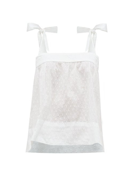 Wiggy Kit - Pretty Fil Coupé Cotton Cami Top - Womens - White