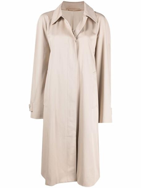 Lemaire oversize cotton coat - Neutrals