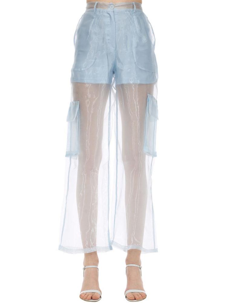 AÉRYNE Penion Organza Pants in blue