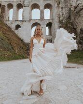 dress,maxi dress,white dress,ruffle dress,sandal heels