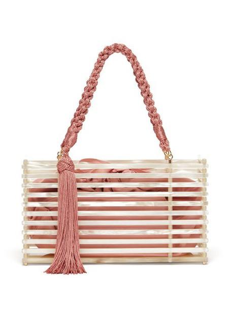 Montunas - Guaria Tasseled Acetate Box Bag - Womens - White Multi