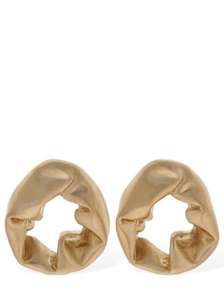 COMPLETEDWORKS Scrunch Shape Earrings in gold