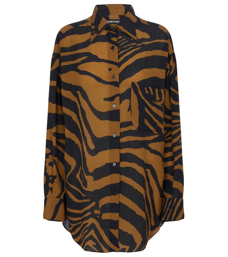 Tom Ford Zebra-print shirt in brown