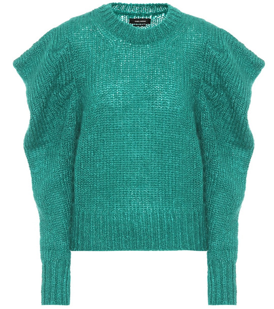 Isabel Marant Ivelyne mohair-blend sweater in green