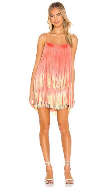 Show Me Your Mumu X Jamie Kidd Rhythm Mini Dress in Coral