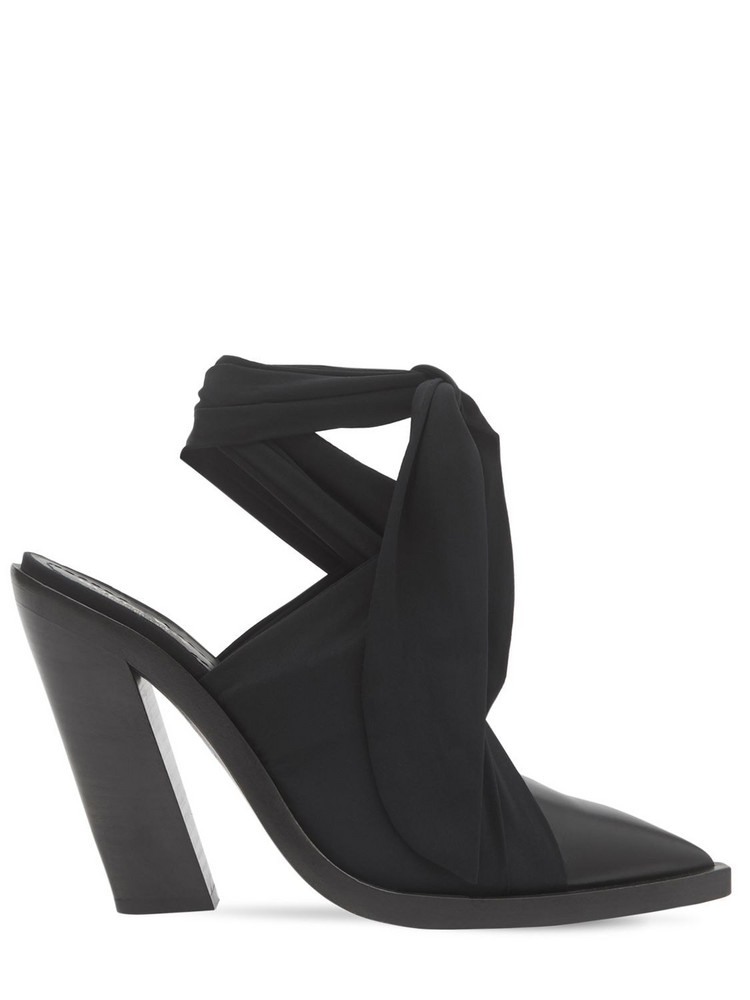 BURBERRY 110mm Tilllington Leather & Jersey Pumps in black