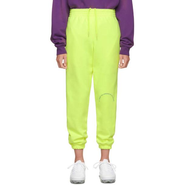 Martine Rose Yellow Slim Track Pants