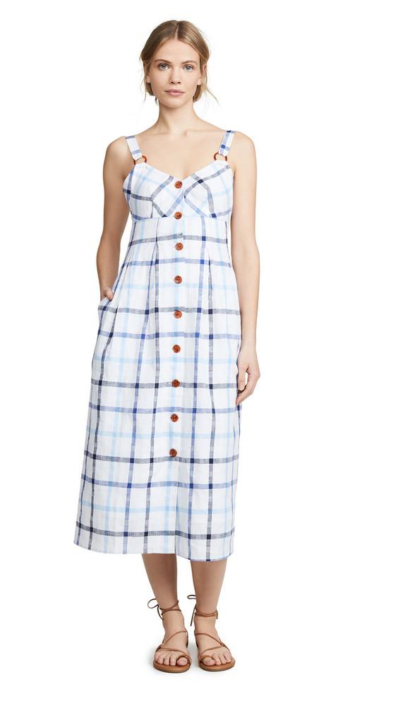 Red Carter Summer Dress in blue / white