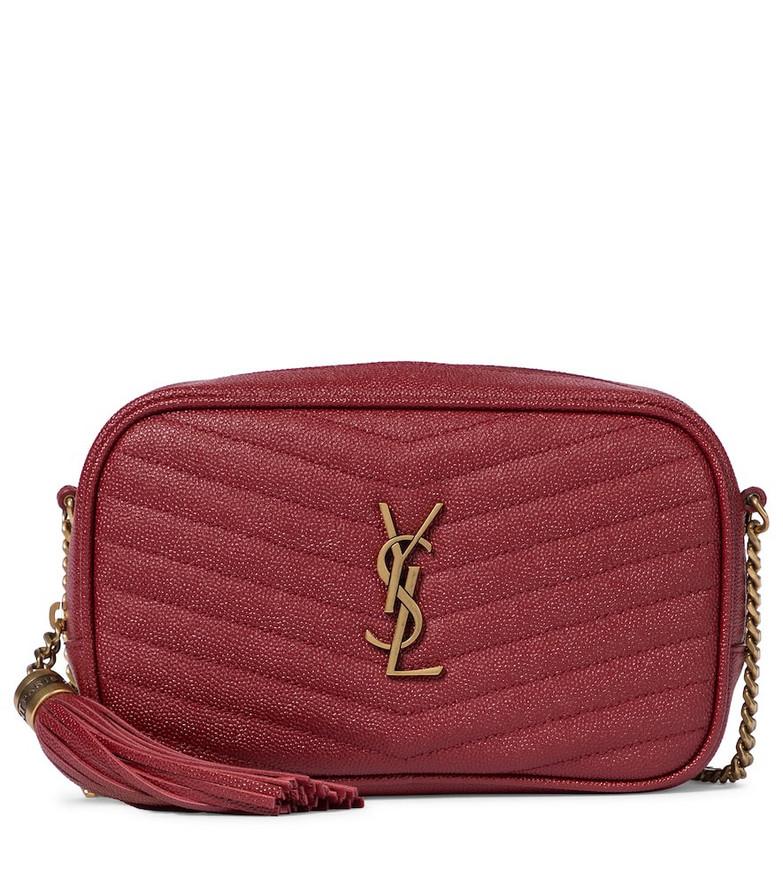 Saint Laurent Lou Camera Mini leather shoulder bag in red
