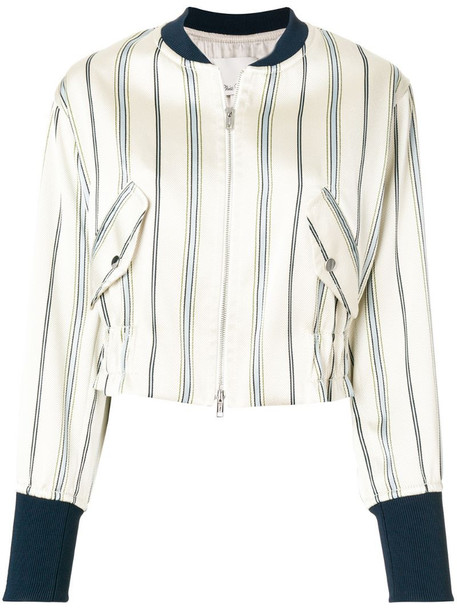 3.1 Phillip Lim striped bomber jacket in neutrals