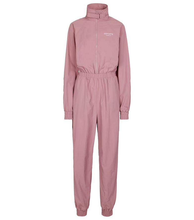 ROTATE BIRGER CHRISTENSEN Cliera recycled nylon jumpsuit in pink