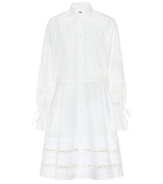 Polo Ralph Lauren Cotton shirt dress in white