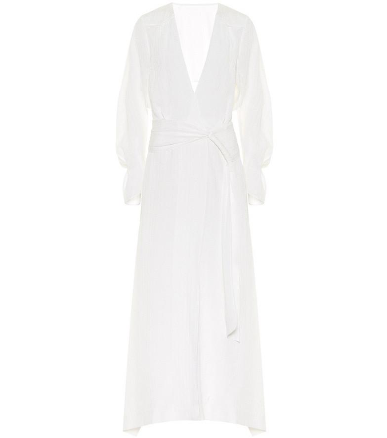 Roland Mouret Springbrooke silk maxi dress in white
