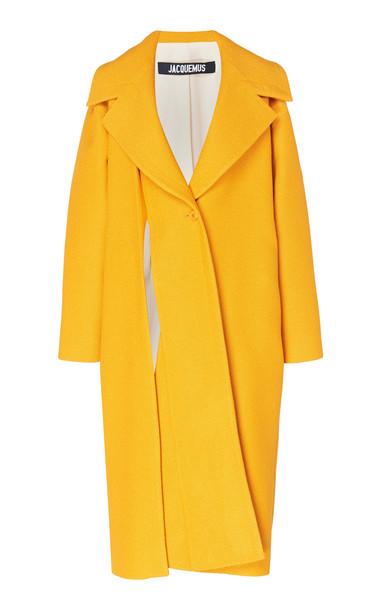 Jacquemus Spliced Cotton and Linen-Blend Coat Size: 36