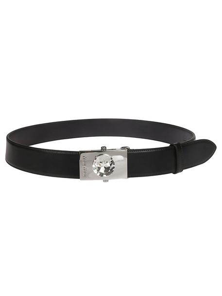 Miu Miu Crystal Detail Belt in black