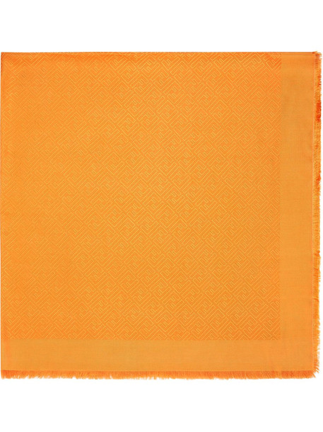 Fendi tonal logo-print scarf - Orange