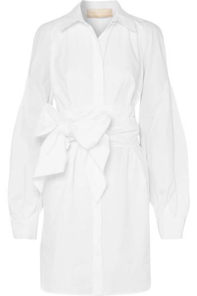 Antonio Berardi - Tie-front Cotton-poplin Dress - White