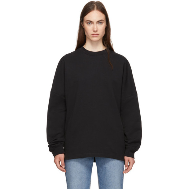 alexanderwang.t Black Dry French Terry Logo Sweatshirt
