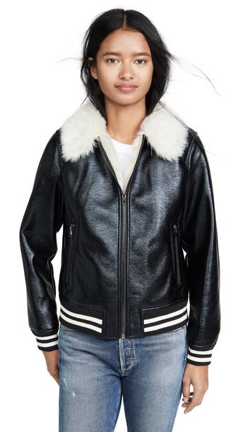 MOTHER The Fur Moto Jacket