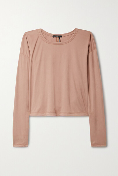 Koral - Storm Cutout Ribbed Stretch-modal Top - Pink