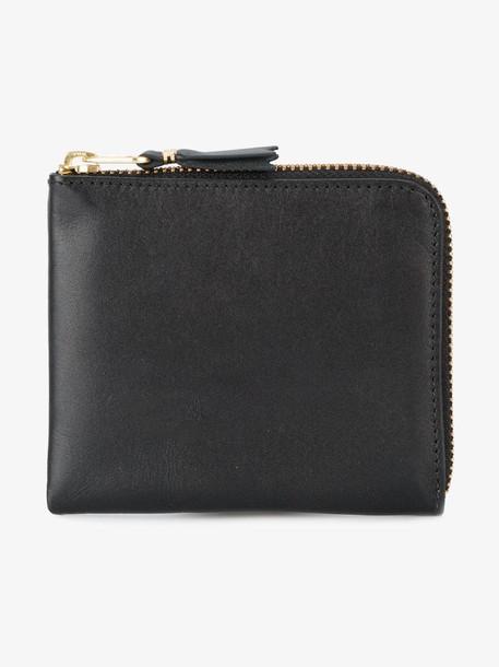 Comme Des Garçons Wallet zip around purse in black