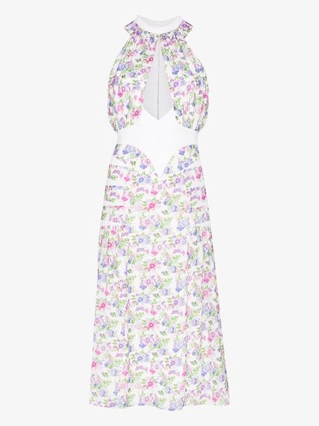 Paco Rabanne Floral print cutout dress