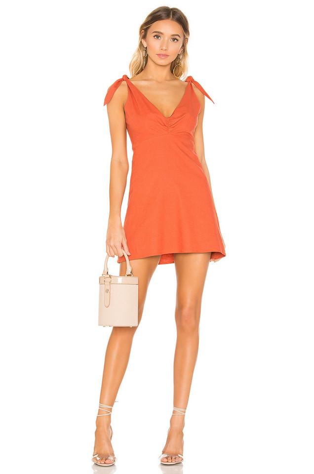 Privacy Please Napa Mini Dress in orange