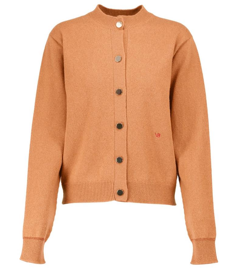 Victoria Beckham Stretch-wool cardigan in orange