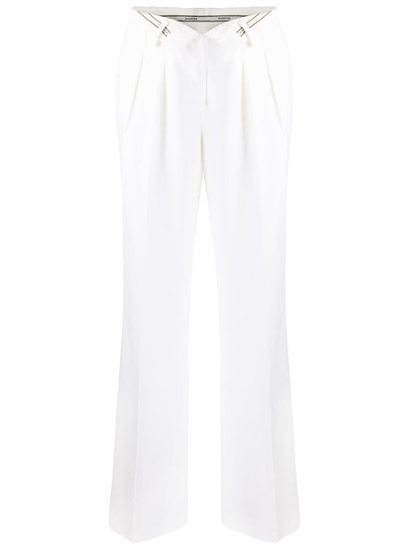 Alexander Wang open-front tailored trousers in neutrals