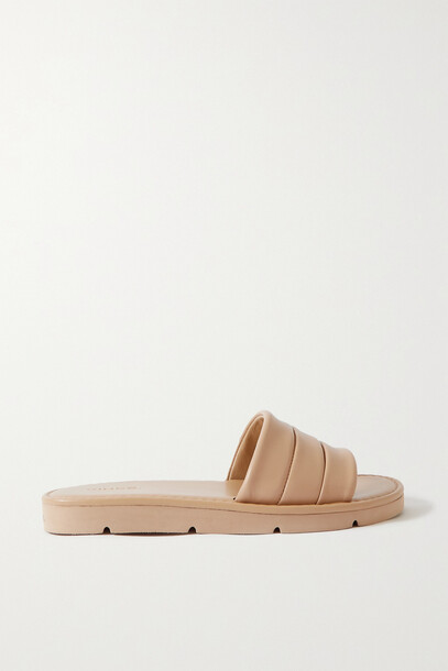 Vince - Olina Quilted Leather Slides - Neutrals