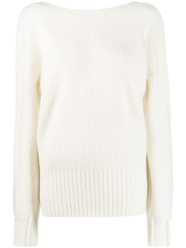 Patrizia Pepe oversized long sleeve sweater in white